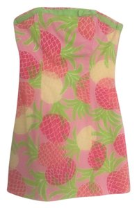 Lilly Pulitzer short dress Mother's Day Sundress Strapless Floral on Tradesy