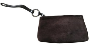Mulberry Suede Wristlet in brown
