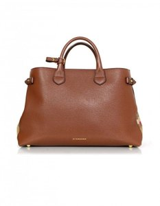 Burberry Brand New Banner Large Satchel in Camel