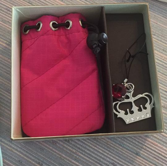 Juicy Couture pink juicy pouch and keychain