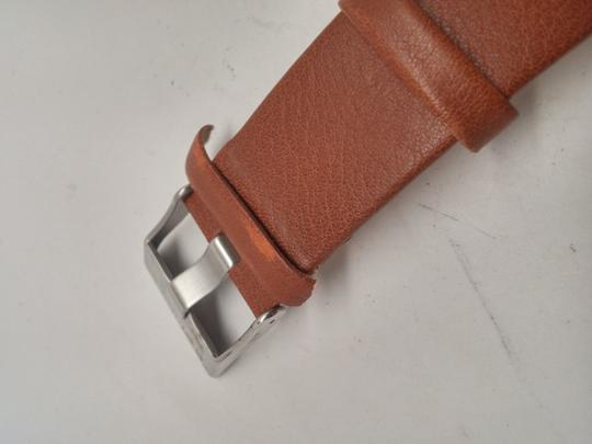 Diesel B lack Dial Tan Leather Strap Mens Watch DZ1513 band keeper torn