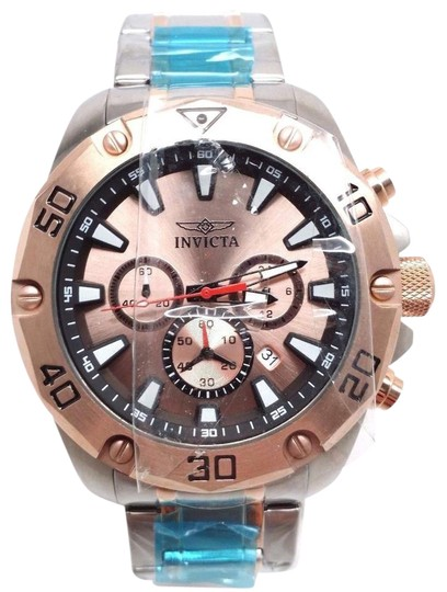 Preload https://img-static.tradesy.com/item/21297707/victa-20013-pro-diver-chronograph-rose-dial-two-tone-steel-watch-0-1-540-540.jpg