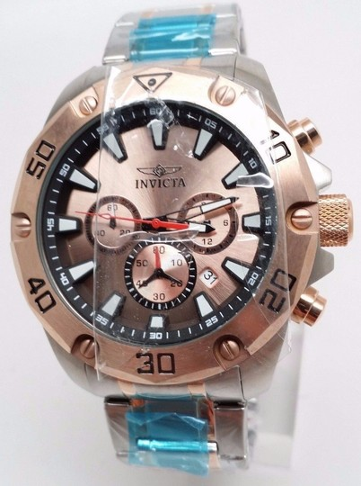 Men's In victa 20013 Pro Diver Chronograph Rose Dial Two Tone Steel Watch