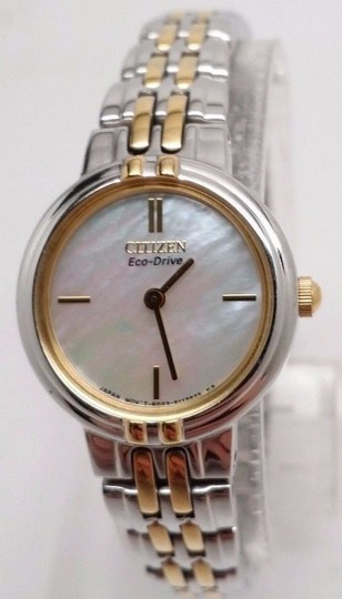Citizen Eco-Drive EX1094-51D Silhouette Two Tone Mother Pearl Ladies Watch