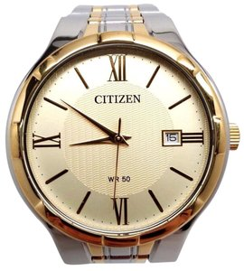 Citizen Analog Dress Mens Watch QUARTZ Silver Japan BI5024-54P