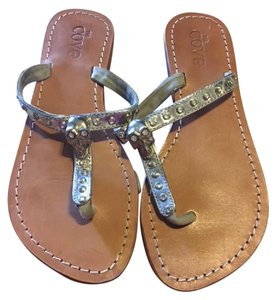 The Cove Skull Jewels silver, brown Sandals