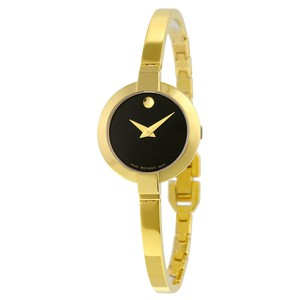 Movado MOVADO Bela Black Dial Gold PVD Stainless Steel Ladies Watch