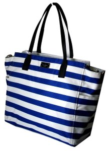 Kate Spade Nylon Navy/white Stripe Taden Blake Avenue BLUE/WHITE STRIPE Diaper Bag