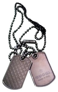 Gucci GUCCI 272848 J8400 8111 Diamante 2 dog tag necklace Palladium Silver