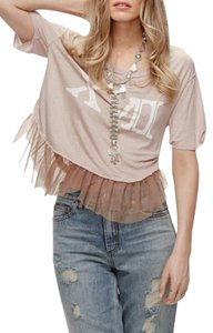 Free People Tutu Hem Graphic Top NWT Mauve