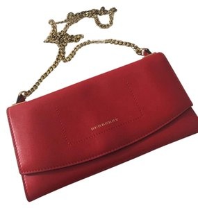Burberry Red/Orange + Pink Clutch