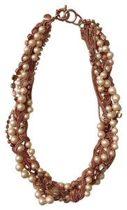J.Crew J.Crew Pearl Cluster Necklace Rose Gold