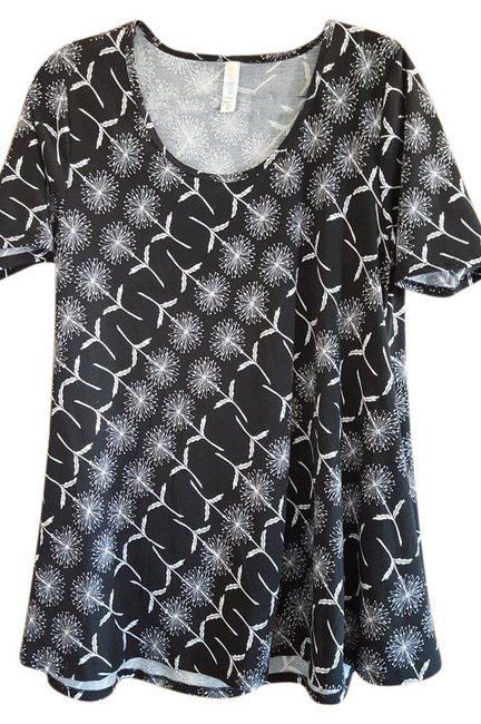 Lularoe perfect t the usa t shirt black white made in usa for Perfect black t shirt