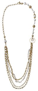 Bloomingdale's Bloomingdale's Pearl and Gold Layered Necklace