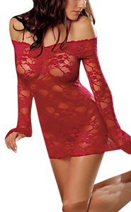Other Lace Babydoll Red Halter Top