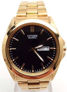 Citizen BF0582-51F Men's Classic Gold Tone Black Dial Day Date Analog Watch RE