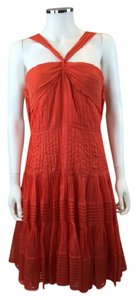 Oscar de la Renta short dress Red-Orange on Tradesy