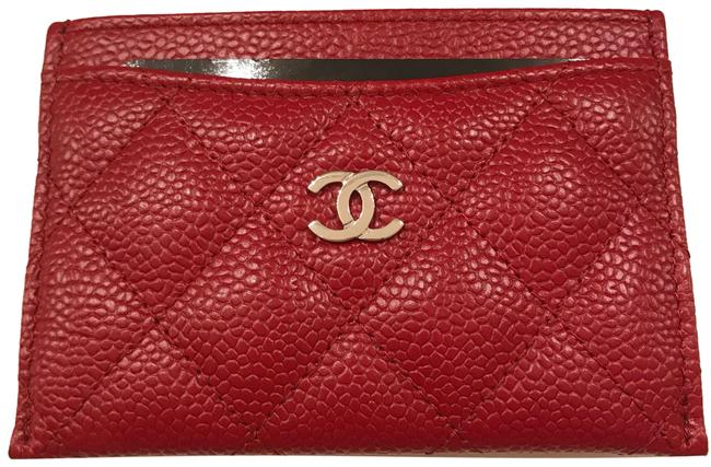 Item - Red Holder with Silver Hardware/ Caviar Leather (Red) Wallet