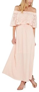 Pink Maxi Dress by Southern Girl Fashion Long Draped Bohemian Festival Overlay Lace New Floral Lace Maxi Off The