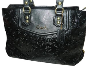 Coach Classy Simple Leather Satchel in Black