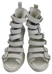 Ann Demeulemeester Boots Buckles Open Off White Wedges