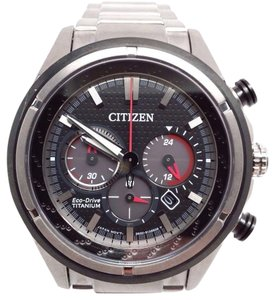 Citizen 180 Eco-Drive Mens Titanium Chronograph Watch CA4240-82E