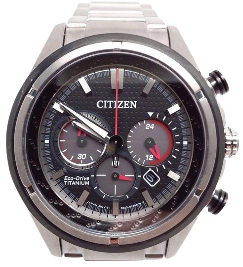 Citizen 180 Eco-Drive Mens Titanium Chronograph Watch CA4240-82E Image 0