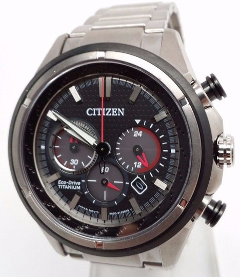 Citizen 180 Eco-Drive Mens Titanium Chronograph Watch CA4240-82E Image 1