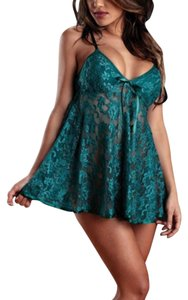 Lace Body Green Halter Top