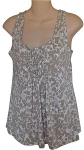 New York & Company Summer Pleated Cotton Machine Washable Top MULTI
