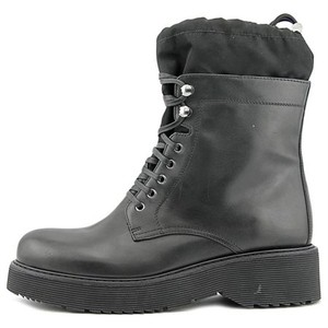 Prada Leather Military Black Boots