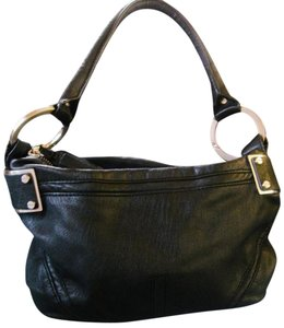 Kenneth Cole Black Leathr Designer Shoulder Bag