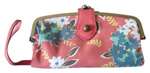 Forever 21 Canvas 21 Coral Pink Clutch