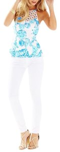 Lilly Pulitzer Jeans Skinny Pants Resort white