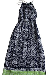 navy blue, white and lime green Maxi Dress by C. Wonder