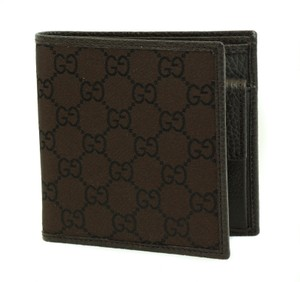 Gucci GUCCI 150413 Men's Nylon GG Guccissima Bifold Wallet, Black
