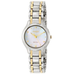 Citizen Eco-Drive Ladies Silhouette MOP Watch EM0284-51N Pre Owned