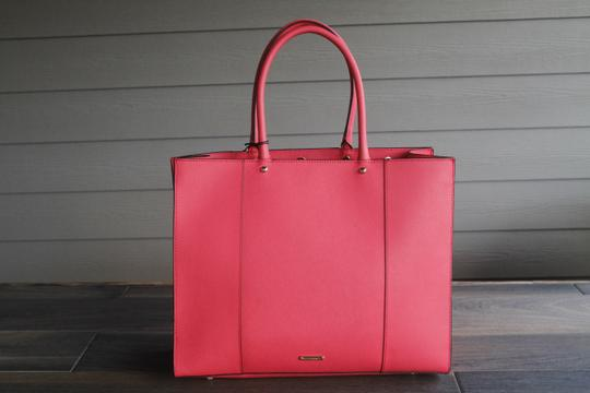 Rebecca Minkoff Mab Morning After Orange Leather Tote in Coral Image 1