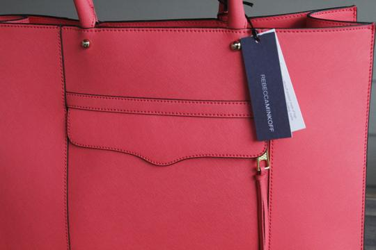 Rebecca Minkoff Mab Morning After Orange Leather Tote in Coral Image 2