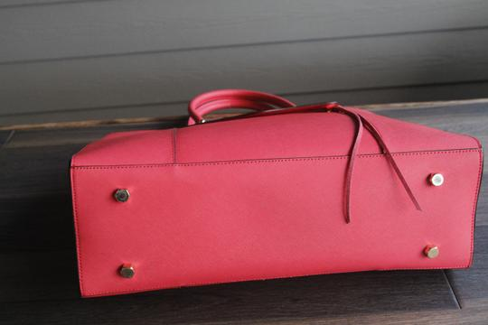 Rebecca Minkoff Mab Morning After Orange Leather Tote in Coral Image 5