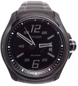 Citizen Eco Drive AW1354-82E Black Dial Black Ion Plated Steel Men's Watch
