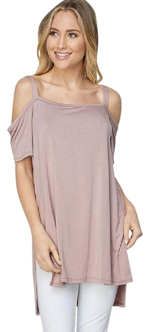 Preload https://img-static.tradesy.com/item/21299398/mauve-cold-shoulder-tee-shirt-size-os-one-size-0-1-650-650.jpg