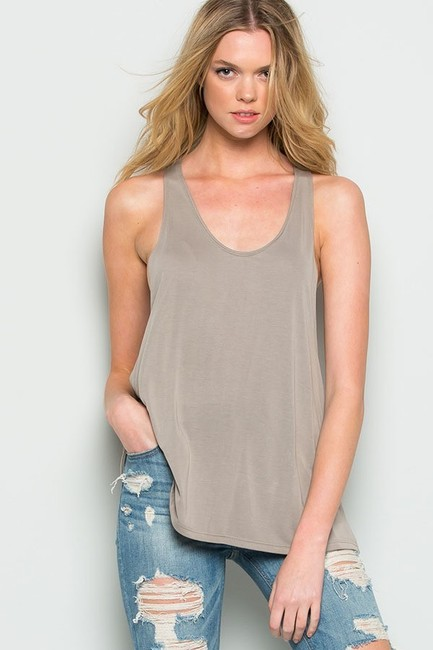 CY Fashion Spring Summer Casual Top Cocoa Image 1