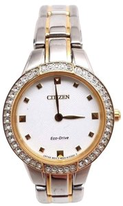 Citizen Eco-Drive Silhouette Analog Display Two Tone Women's Watch EX1364-59A