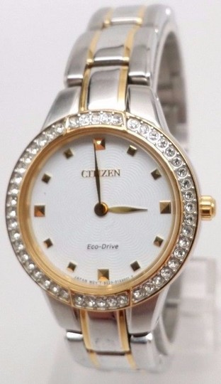 Citizen Eco-Drive Silhouette Analog Display Two Tone Women's Watch EX1364-59A Image 1
