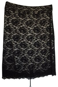 Banana Republic Pencil Lace Skirt Black