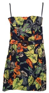 French Connection short dress Blue tropical on Tradesy
