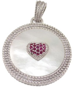 Judith Ripka JUDITH RIPKA STERLING SILVER.925 MOTHER OF PEARL and RUBY