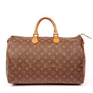 Louis Vuitton Monogram Canvas Vintage Speedy Leather Satchel in Brown