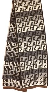Fendi Multi-color Zucca Ff Logo Wool Blend Cashmere Knit Scarf 66x11 Men's Jewelry/Accessory